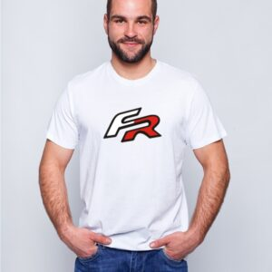 Biała koszulka z nadrukiem Seat FR