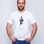 Biała koszulka z nadrukiem Stig