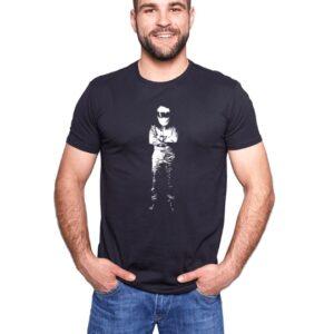 Czarna koszulka z nadrukiem Stig