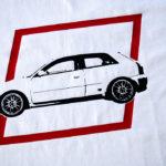 Nadruk na koszulce motoryzacyjnej