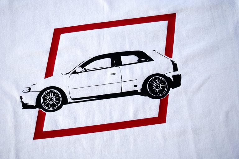 Audi S3 nadruk na koszulce